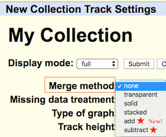 hgCollection drop-down options for Merge Method